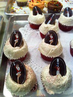 Rockette red velvet cupcakes by Magnolia Bakery! Photo by http://cupcakestakethecake.blogspot.com