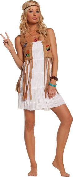 Adult Flower Child Hippie Costume - Party City