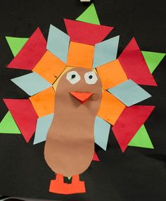 Math: Turkey Feather Shapes