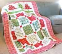 Patchwork Forest Quilt Pattern by It's So Emma at KayeWood.com. This pattern's whimsical trees and shapes are accentuated with fabrics that are perfect for a joyful holiday season. How about with touches of the autumn colors around the evergreens? Make it summery with wildflower colors. Anything is possible. http://www.kayewood.com/item/Patchwork_Forest_Quilt_Pattern/3145 $9.00