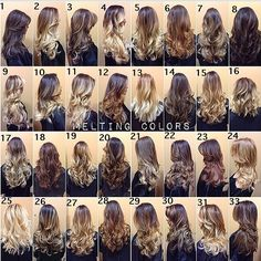 Morning inspiration for you all. Can't wait to get back to work next week. Melting colors is the IT trend for here to stay and extremely low maintenance and can compliment every skin tone. Which one is your favorite ?? #TAG a friend that needs a #ColorMelt in her life. #Repost #HairByLarisaLove #Padgram