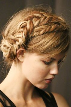 The Non-Beach-Hair Guide To Summer Styles #refinery29  http://www.refinery29.com/beach-hair#slide6  Camping Trip  Here's the beauty of the milkmaid braid: Do it tight enough when you first plait it and you can sleep in it. Not only will the style stay put, but if it gets a little mussy, it'll just make your 'do look cooler. This makes it pretty perfect for a camping trip. Do your braid before you head out into the woods, and then forget about it until you reenter civilization.