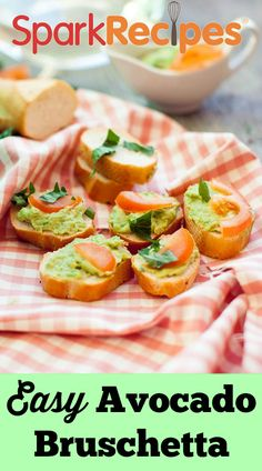 A simple, elegant and no-fuss #appetizer for the #avocado lovers! | via @SparkPeople #food #recipe #bruschetta