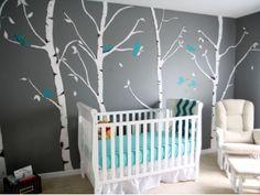 9 Baby Boy Nursery Themes ... I really like the birch tree theme.