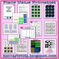This has activities for teaching Place Value with numbers from ones to thousands. It contains...Introductory Cards - For introducing how units ... $4.00