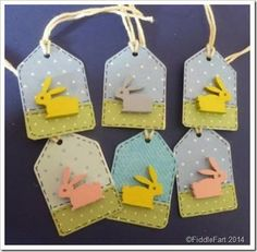 Mini Easter Bunny tags