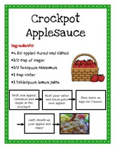 crockpot applesauce for your apple unit