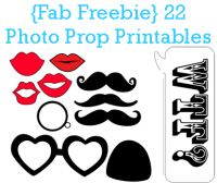 22 DIY Photobooth Props for your Wedding Photo Booth.  YAY! Fab FREE DIY Wedding Photobooth Printables.  Yipee. Today's pretty project is a step-by-step tutorial for creating these super fun DIY photobooth props for your very own indie wedding photobooth.  #photobooth #printable #wedding #freebie #diy #photoprops
