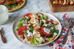 Smoked Paprika Chicken Salad with Homemade Ranch Dressing | TheLittleKitchen.net