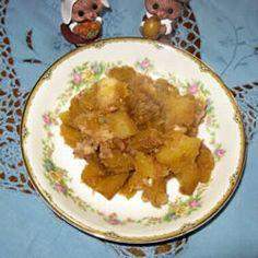 Acorn squash & apples