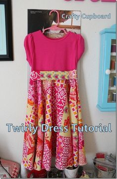 Twirly Dress Finished - use fat quarters to make for different version - http://kindredspiritmommy.com/emma-easter-dress/
