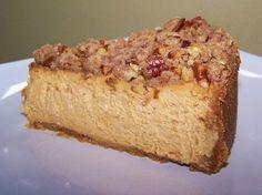Pumpkin Cheesecake with Pecan Crumble - Gluten Free #TDayRoundUp Entry by @EZ Gluten Free