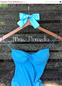HOLIDAY SALE Personalized Bridal Hanger / Bride  / Wedding Hanger /Bridal Gift / bridal party GIFTS / wire hanger
