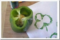 Green Pepper prints for St. Patrick's Day - other fun preschool ideas, too.
