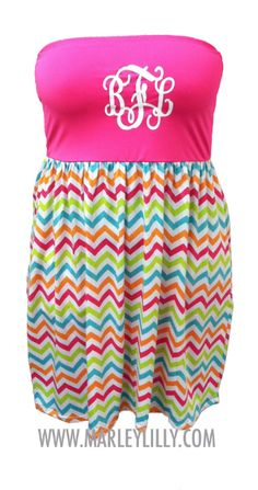 New Monogrammed Chevron Swimsuit Cover Up