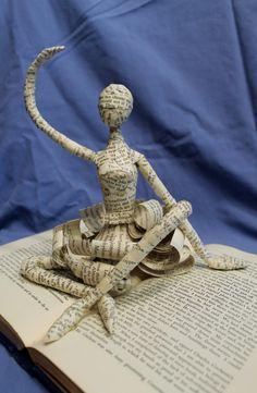 Dancer Book Sculpture