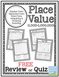 Here's a set of pages to review a variety of place value concepts.