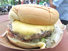 The Beach Burger from Rippers on Rockaway Beach in Queens