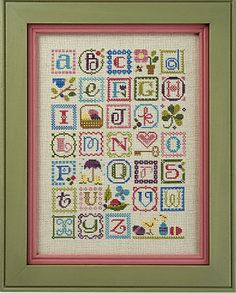 cute abc cross stitch