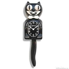 vintage cat kitchen clock---i so wanted one of these---weird.