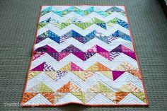Zig Zag Baby Quilt zag babi, craft, baby quilts, babi quilt, babi gift, chevron babi, blog, zigzag quilt