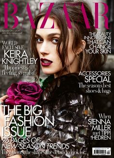 Keira Knightley covers the September 2012 edition of UK's Harper's Bazaar Magazine