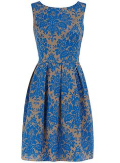 Dorothy Perkins blue damask prom dress
