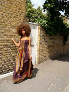 African Dashiki-Print Maxi Dress.  I would wear the hell out of this!