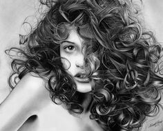 Playful curls - Pencil drawing by *Regius on deviantART