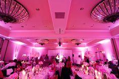 pink custom lighting in this ballroom wedding | Jake Holt #wedding