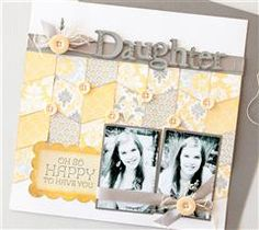 This layout is a great way to use up paper scraps!
