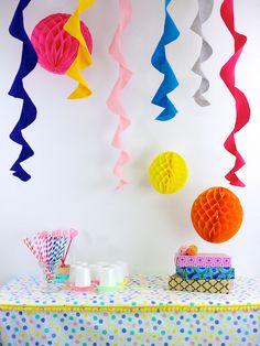 easi diy, easi parti, parti decor, circl parti, diy party streamers, parti streamer, kid birthday parties, decor idea, diy parti