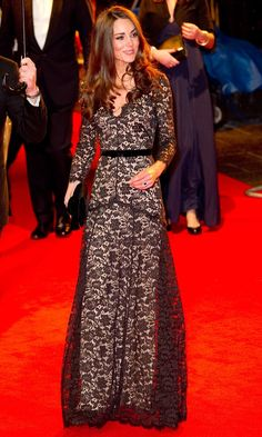 Kate Middleton Wowed In Another Amazing Dress By Temperley At The Premiere Of Steven Spielberg's War Horse, 2012
