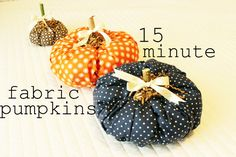 DIY Fall Craft: 15 Minute Fabric Pumpkin ( Linky To Get Featured)