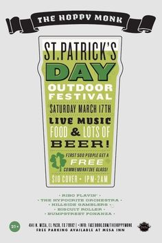 st patrick day poster flag with stripes
