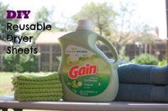 DIY Reusable Dryer Sheets- The Busy B Homemaker