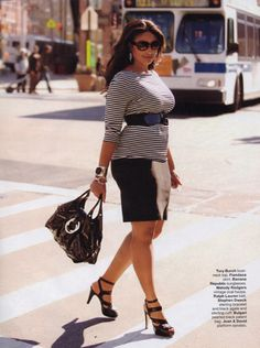 """""""Plus size"""" in the fashion world is size 12 and up. Sexy comes in every size. #FatGirlsCanRun"""