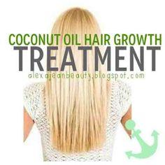 2 tbs coconut oil w/ 1 egg hair mask