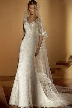 Empire Sweetheart Chapel Bridal Gown