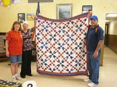 blue quilt, quilt idea, veteran quilt, quilt pattern