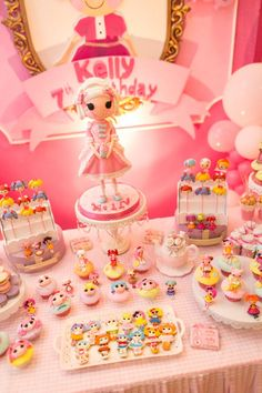 Lalaloopsy Beauty Parlor Party via Kara's Party Ideas #lalaloopsy #spa #makeover #party #planning #idea #decorations