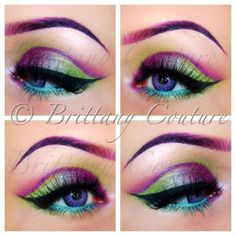 Fun Mardi Gras makeup