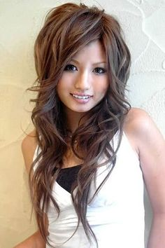 Long Beautiful Voluminous Messy Style Asian Women #hairstyles, #haircuts, #fashion, #women, https://facebook.com/apps/application.php?id=106186096099420
