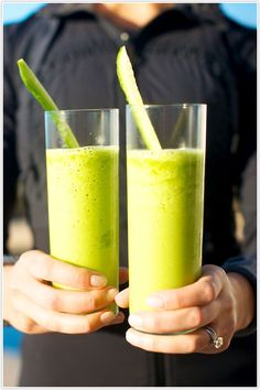 Beautiful green smoothie!