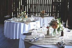 burlap, table settings, wedding receptions, table clothes, wedding reception tables
