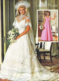 1980s Wedding Dress Pattern Simplicity 7260 Wedding by paneenjerez, $10.00