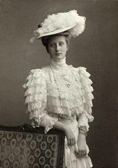Augusta Viktoria von Hohenzollern- Sigmaringen, later Queen of  Portugal.