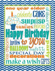Eye Candy Event Details: {FREE Subway Art} Happy Birthday Subway Art Download