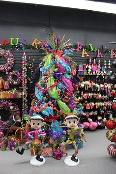 Funky Fa La La La La Christmas tree by Craig Bachman Imports....see more at www.trendytree.com