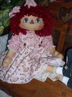 *PRIMITIVE RAGGEDY ANN ~ Simply Courtney INSTANT by Crazyforelves, $4.50